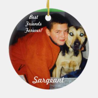 Personalized Pet Ornaments-Remembrance Round Ceramic Decoration