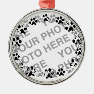 Personalized Pet Photo Silver-Colored Round Decoration