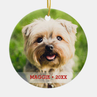 Personalized Pet Photo Double-sided Christmas Tree Christmas Ornament