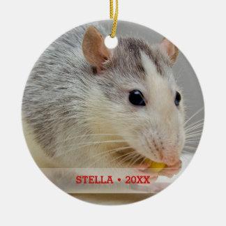 Personalized Pet Rat Photo & Name Christmas Tree Christmas Ornament