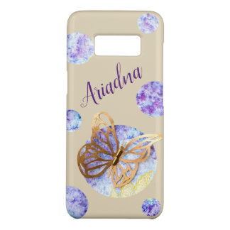 Personalized Phone Case with Butterfly and Dots