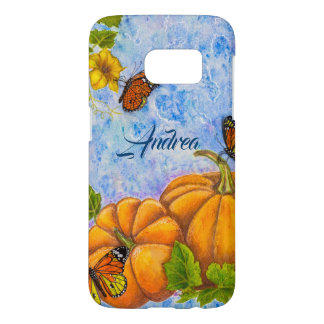 Personalized Phone Case with Butterfly & Pumpkins