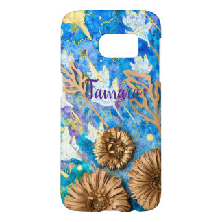 Personalized Phone Case with Chrysanthemum Flower