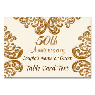 Personalized Photo 50th Anniversary Place Cards