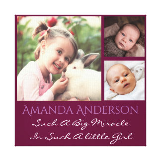 Personalized photo and custom quote canvas print