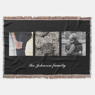 Personalized Photo and Text Throw Blanket
