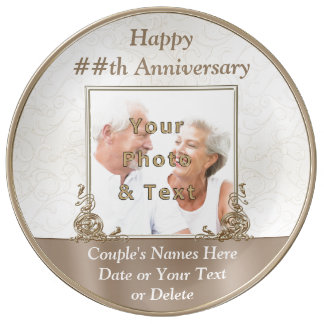 Personalized Photo Anniversary Gifts by Year Plate