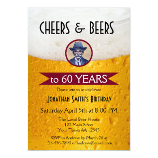 Personalized Photo Beer Birthday Party Invitation