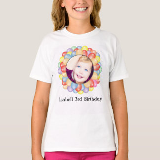 Personalized photo Birthday Girl T-Shirt