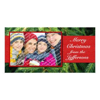 Personalized Photo Christmas Cards Xmas Holiday Customised Photo Card
