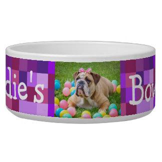Personalized Photo Dog Bowl Purple