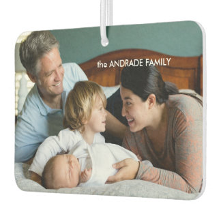 Personalized Photo Family Name Design Your Own Car Air Freshener