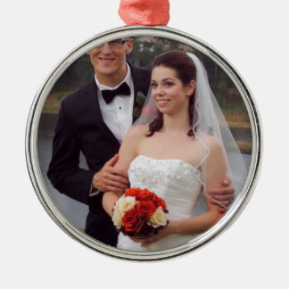 Personalized Photo Gifts Silver-Colored Round Decoration