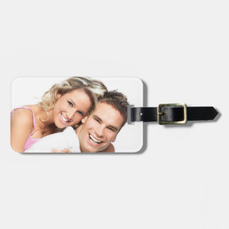 Personalized Photo Honeymoon Luggage Tag