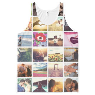 Personalized photo masaic template All-Over print tank top