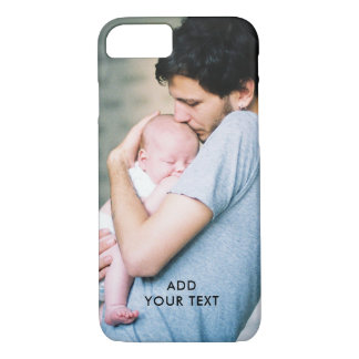 Personalized Photo Name Initial Monogram iPhone 8/7 Case
