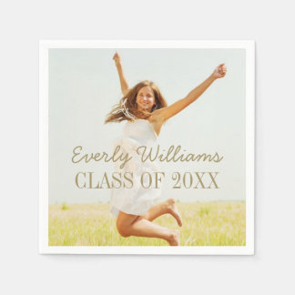 Personalized Photo Napkins | Class of 2018 Disposable Napkin