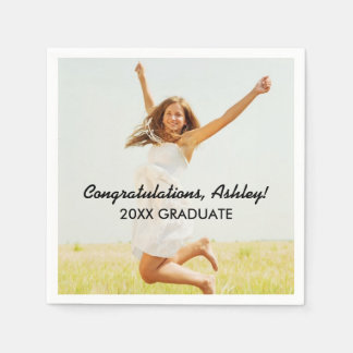 Personalized Photo Napkins | Congratulations Disposable Serviette