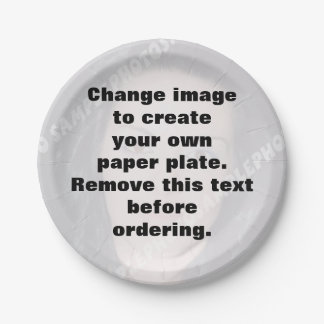 Personalized photo paper plate. Make your own! Paper Plate