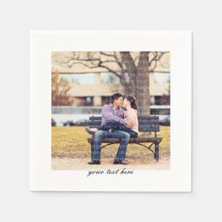 Personalized Photo Party Paper Napkin Set