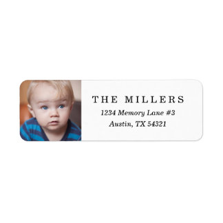 Personalized Photo Return Address Label