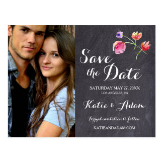 Personalized, Photo Save the date, Rustic Postcard