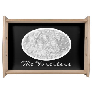 Personalized photo serving tray with your picture
