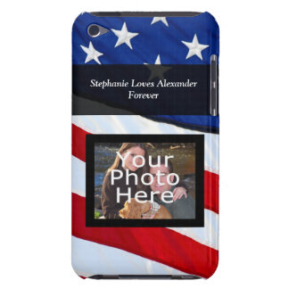 Personalized Photo USA Patriotic American Flag iPod Touch Case-Mate Case