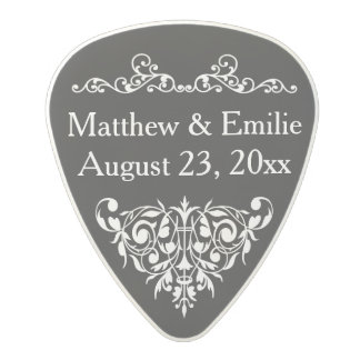 Personalized Photo Wedding Favor Polycarbonate Guitar Pick