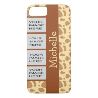 Personalized Photo Yellow Animal Print iPhone 7 Case