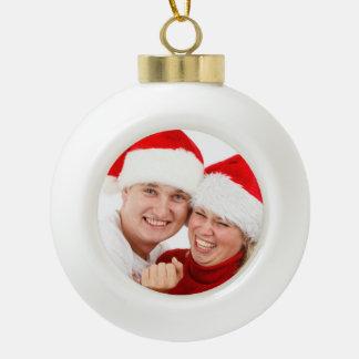 Personalized Photograph Ceramic Ball Ornament