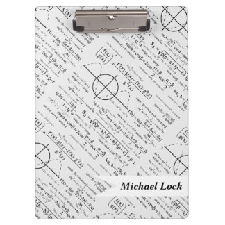 Personalized Physics Gifts for Physicists Clipboard