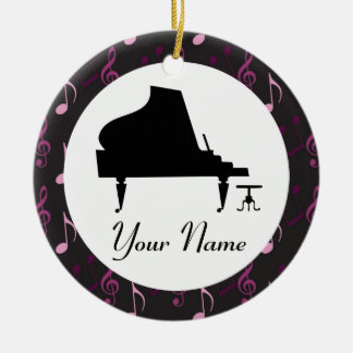 Personalized Piano Gift Music Ornament