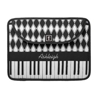 Personalized Piano Keys and Diamonds Sleeve For MacBook Pro