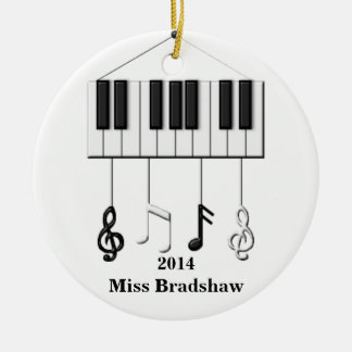 Personalized  Piano Teacher  Ornament