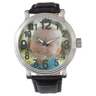 Personalized PICTURE Watches for Men, Women, Kids