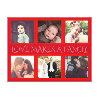 Personalized pictures and typography canvas print