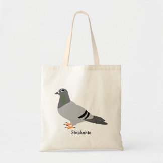 Personalized Pigeon Tote Bag