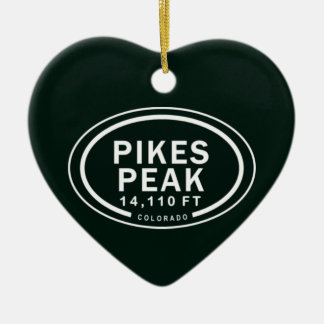 Personalized Pikes Peak Colorado Rocky Mountain Christmas Ornament