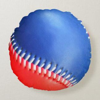 Personalized Pillow Red White  Blue Baseball