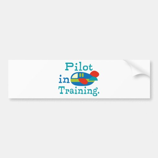Personalized Pilot in Training Bumper Stickers