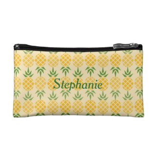 Personalized Pineapple Pattern Cosmetic Bag