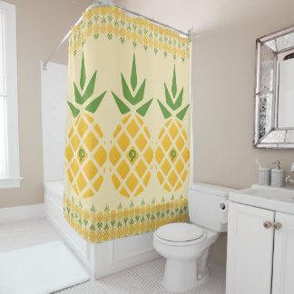 Personalized Pineapple Pattern Shower Curtain