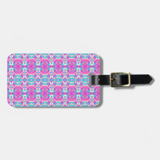 Personalized Pink and Blue Pattern Luggage Tag