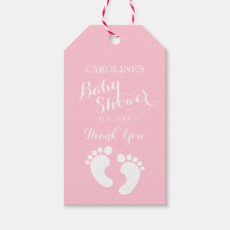Personalized Pink Baby Feet Girl Baby Shower