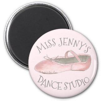 Personalized Pink Ballet Shoe Dance Studio Teacher Magnet
