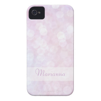 Personalized Pink bokeh iphone 4 case