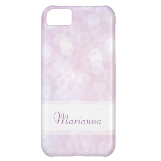 Personalized pink bokeh iphone 5 case