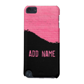 Personalized Pink Brick Wall iPod Touch 5G Covers