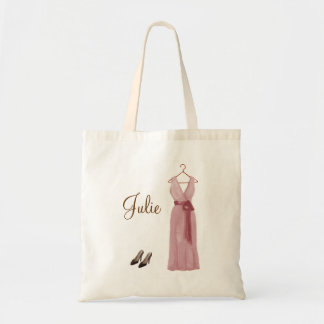 Personalized Pink Bridesmaid Tote
